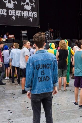 jacket denim grunge 90s style cool denim jacket unisex indie hipster grunge menswear
