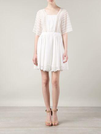 dress semi-sheer tunic dress nina ricci