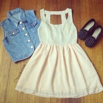 dress soft pink dress pastel pink dress pink and white skater dress style tumblr dress