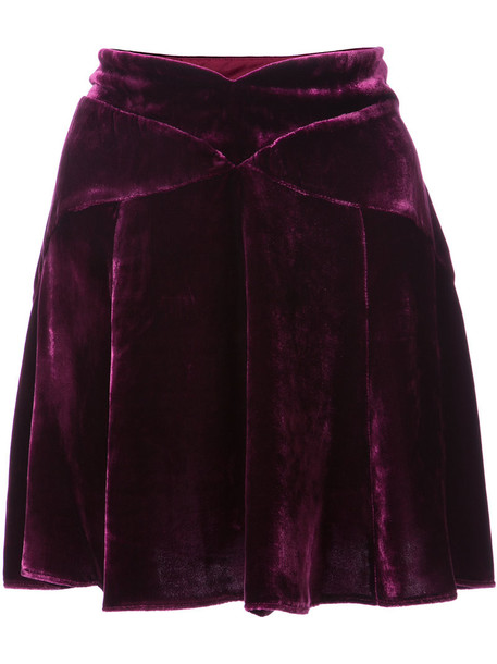 Anna Sui skirt mini skirt mini women silk purple pink