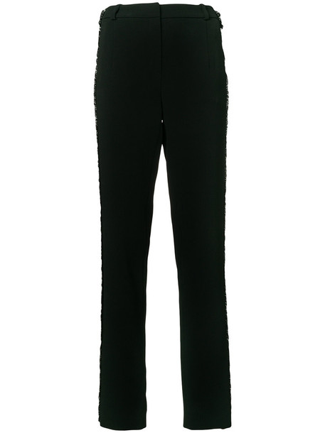 MUGLER women spandex black pants