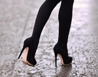 beige suede suede golden stripe golden glamourous prom shoes black heels high heels classy