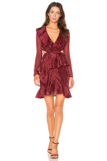 C/MEO dress long sleeve dress long red