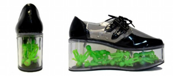 shoes alien ufo platform shoes black