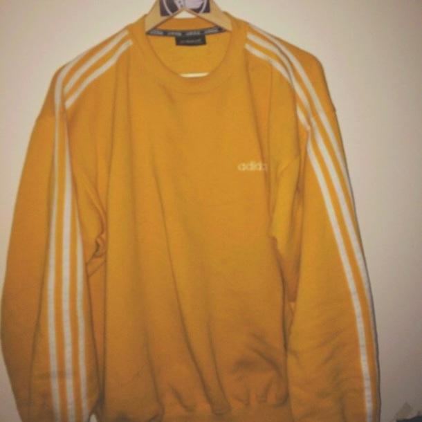 sweater yellow adidas jumper