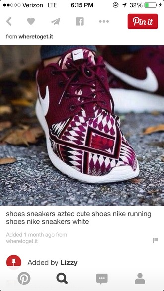 shoes maroon aztec nike running shoes