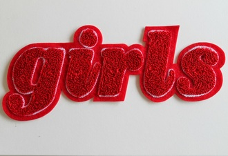 jewels red girl cool quote on it patch cool patches gay pride so gay words on shirt accessories accessory