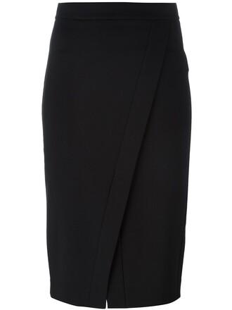 skirt pencil skirt women slit spandex black