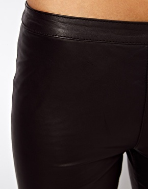 Selected | Selected Sabrina Zip Leather Pants at ASOS