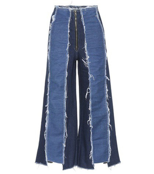 Rejina Pyo Bella panelled wide-leg jeans in blue