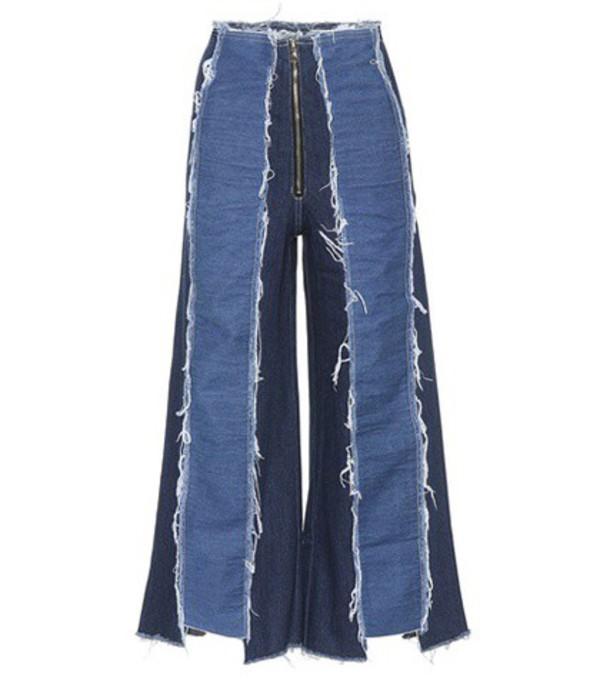 Rejina Pyo Bella panelled wide-leg jeans in blue