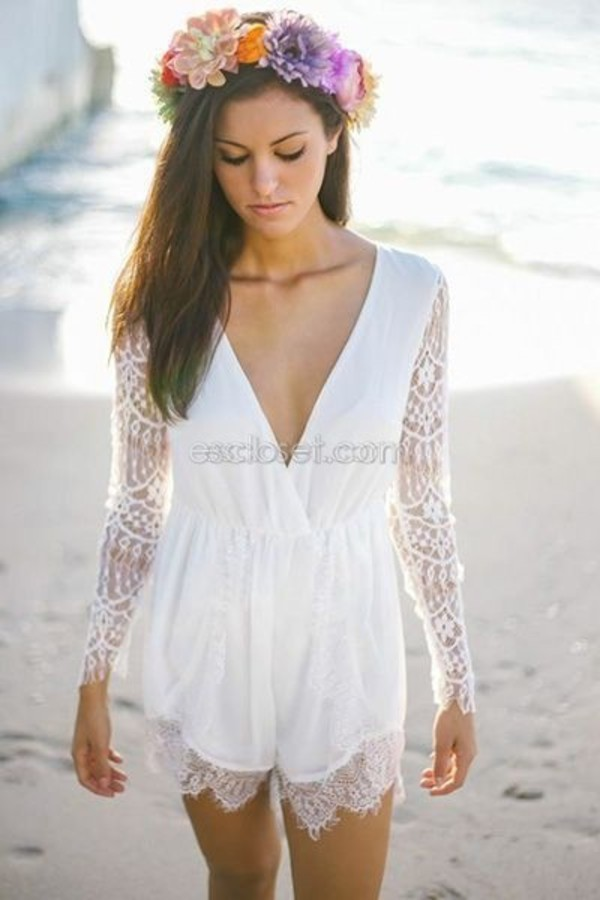 romper lace sleeves