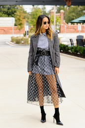 dress,jamie chung,blogger,fall outfits,celebrity,mini skirt,see through,sheer,mesh