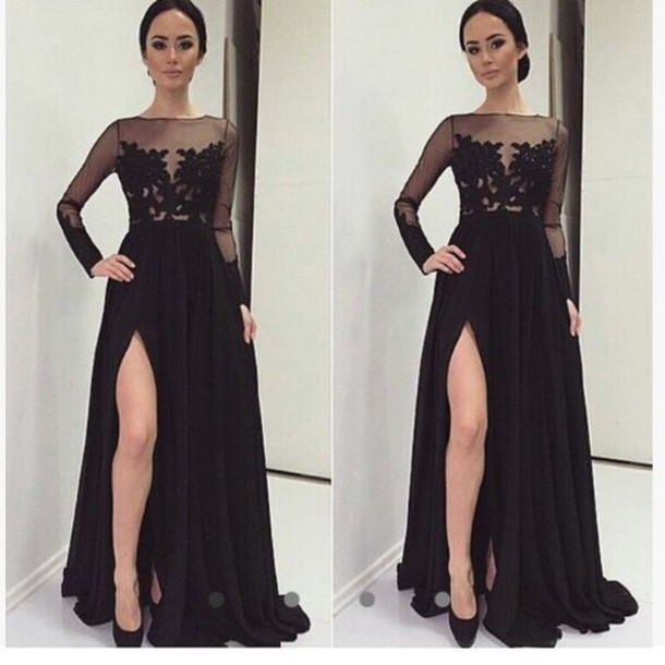 Black Long Dresses for Teenagers