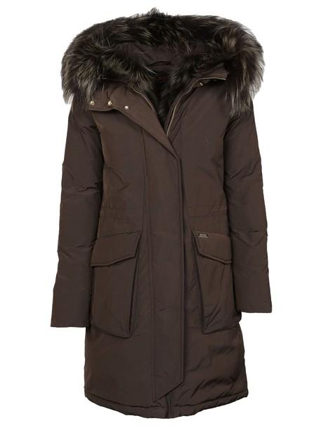 Woolrich parka brown coat