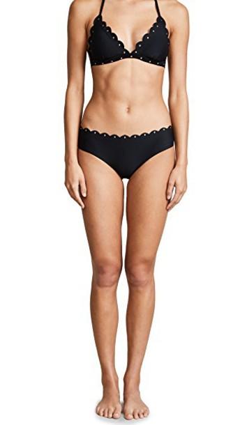 Kate Spade New York bikini bikini bottoms hipster bikini hipster scalloped black swimwear