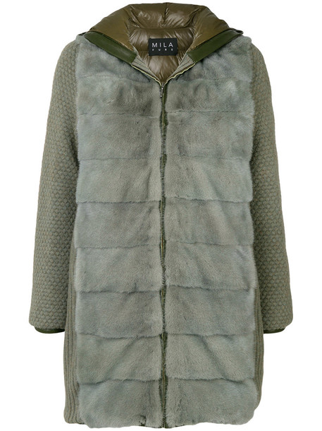 Cara Mila jacket fur jacket fur women wool green