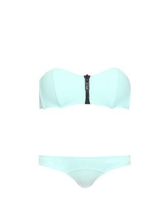 bikini bandeau bikini light green swimwear
