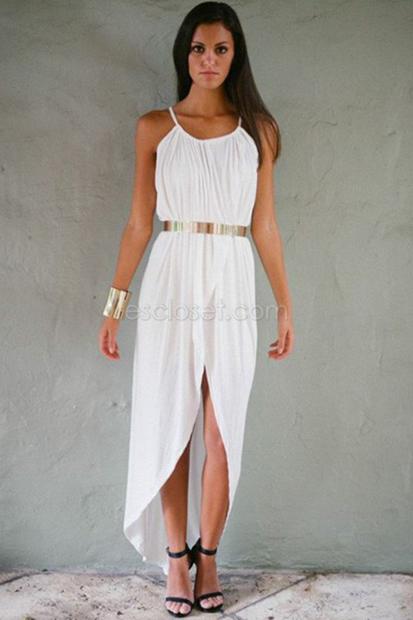 wrap dress gold belt