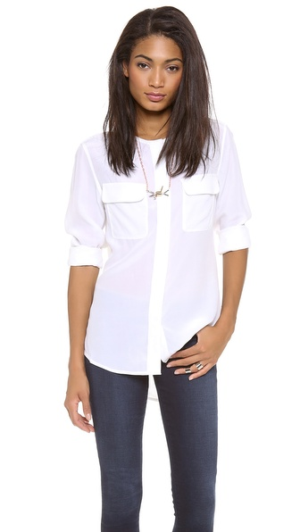 Equipment Lynn Crew Neck Blouse | SHOPBOP