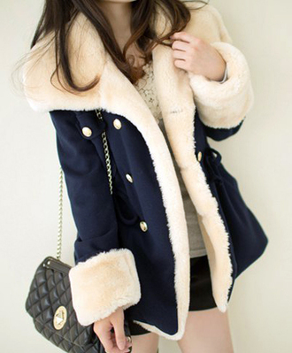 coat fall outfits winter outfits fashion cozy warm cute navy style