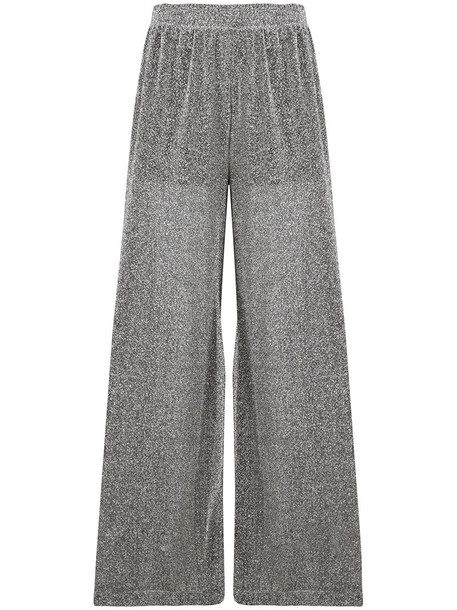 Mm6 Maison Margiela glitter women grey pants