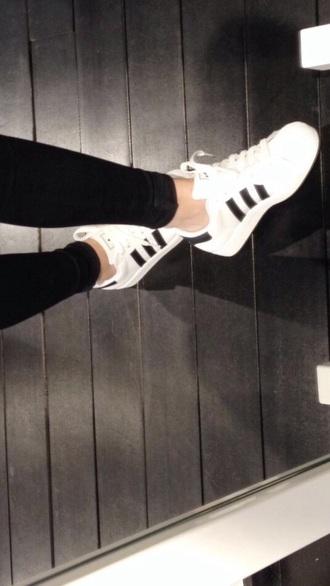 shoes black white stripes adidas