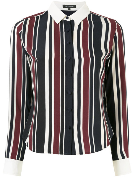 Loveless shirt striped shirt women blue top
