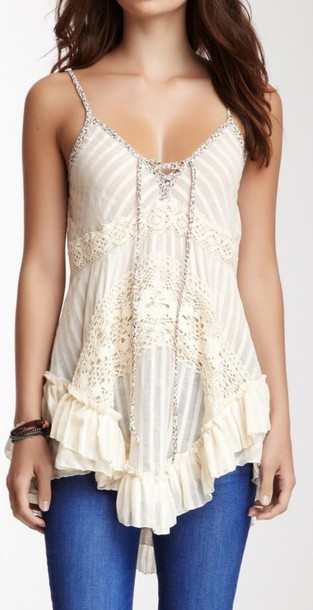 blouse white. strapless boho