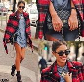 jacket,kylie jenner,dress,jewels,bag,sunglasses,shoes,coat