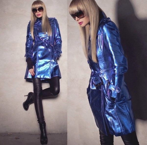 coat blue cool fashion pants