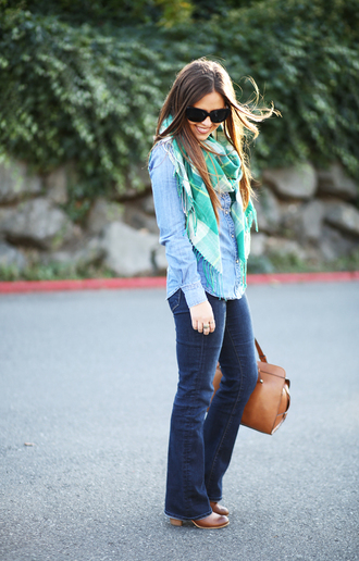 dress corilynn blogger shirt jeans scarf bag shoes sunglasses