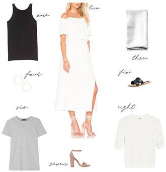 krystal schlegel blogger shoes tank top dress t-shirt shirt sandals top