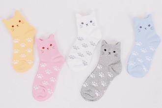 socks ankle socks cats cute kawaii underwear easter
