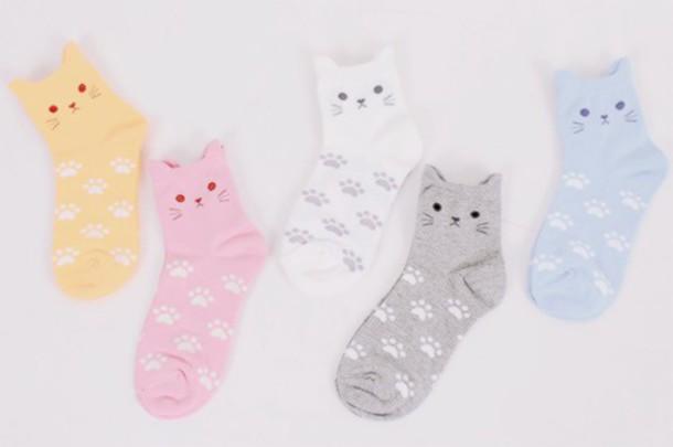 socks ankle socks cats cats cute kawaii underwear easter