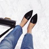 black shoes,black,black shoes flat,pointed flats,shoes,pointedflatshoes,sparkle pointed flats,pointed toe,ballet flats,snake skin,shoes black grunge flat