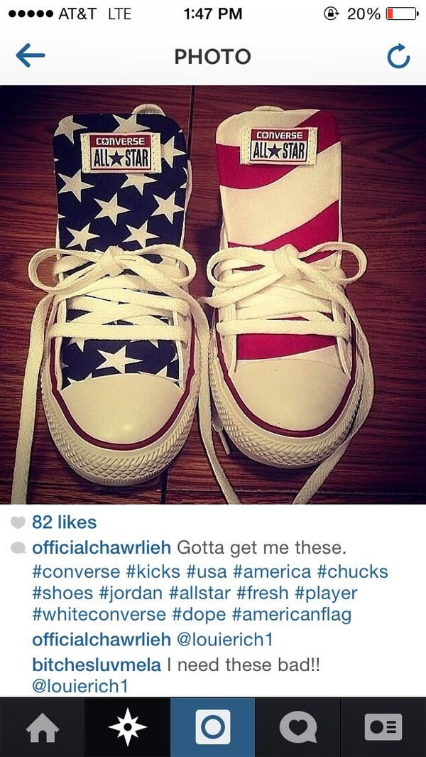 shoes american flag usa american flag tongue converse high top converse converse white converse