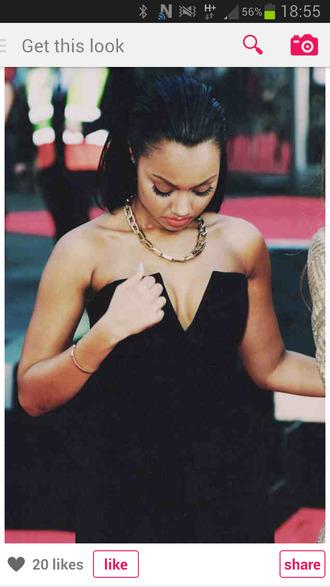 dress black dress sweetheart knee length plunge v neck