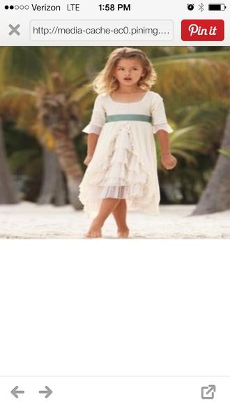 dress toddler dress ivory wedding clothes