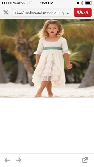 dress clothes: wedding toddler dress ivory