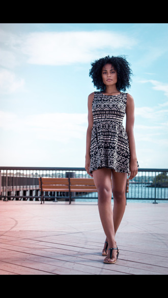 dress black bodycon dress beautiful white summer outfits model skater dress aztec tumblr aztec dress skater skaterdress