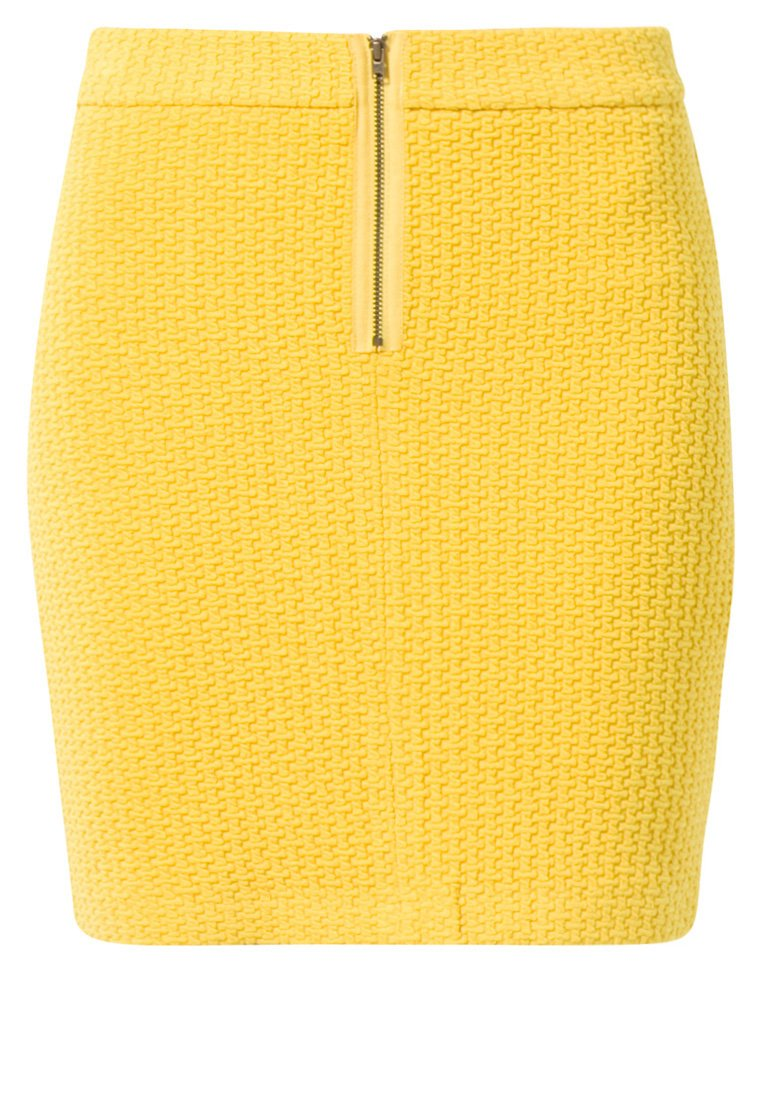 Ganni Mini skirt - yellow - Zalando.co.uk