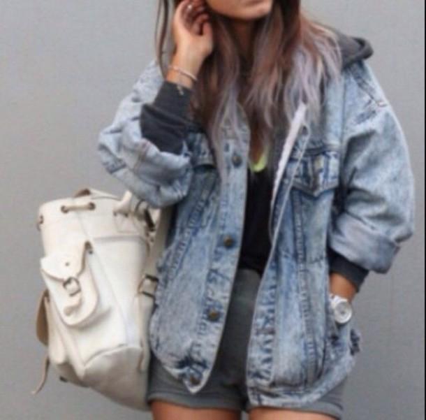 jacket baggy denim jacket