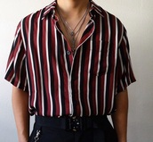 shirt,red black white,button up shirt,red striped,summer shirt,red black white striped,stripes,striped top,black and white,button up,buttoned up shirt,white and black striped shirt dress,summer,red,black,white,button down shirt,pattern,button down,style,stylish,top,menswear,loose,men's