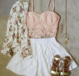 blouse light pink flowers