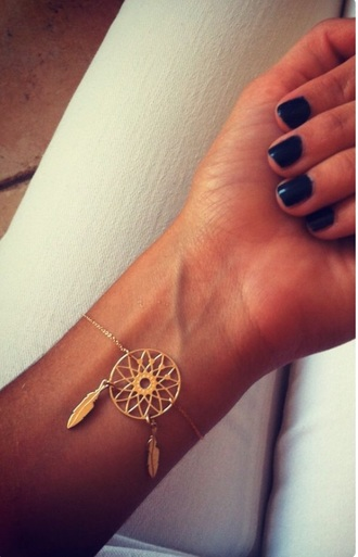 jewels jewelry gold style tumblr dreamcatcher accessories bracelets dreamcatcher bracelet boho boho jewelry
