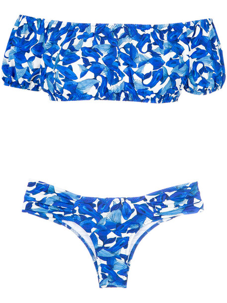 isolda bikini women blue swimwear