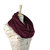 Maroon Infinity Scarf Jersey Wine Mulberry Burgundy Red Circle Cotton Women Fashion Wide