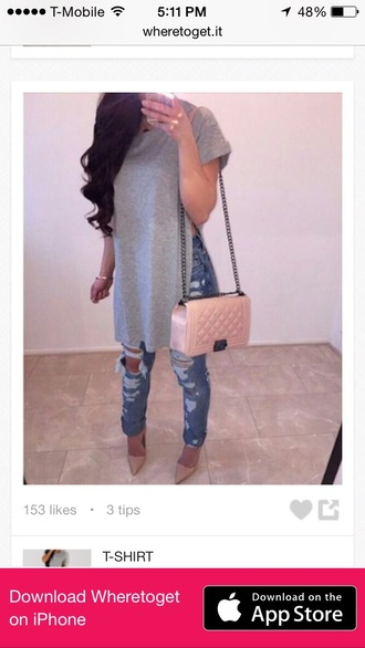 shirt gray style i want this outfit