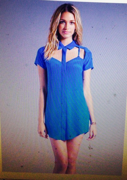 blue dress blue blouse dress